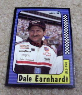 1991 Maxx Dale Earnhardt # 220 Nascar Racing Card  Sports Related Trading Cards  Sports & Outdoors