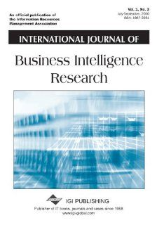 International Journal of Business Intelligence Research Richard Herschel 9781609609573 Books