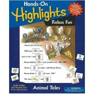 Animal Rebus Fun A Magnetic Story Maker (Hands on Highlights) (9780824915018) Inc. Highlights for Children Books