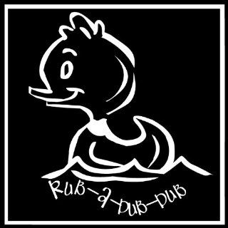Rub A Dub Dub.Bathroom Wall Art Cute Vinyl Wall Art Saying Decal Graphics Matte Black   Wall Decor Stickers