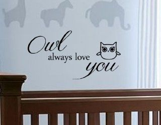 Newsee Decals Owl always love you Vinyl wall art Inspirational quotes and saying home decor decal sticker   Awesome Owls