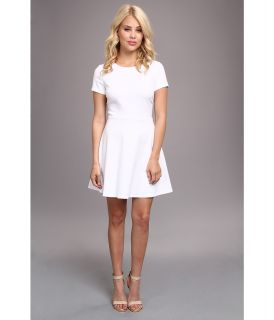 BCBGeneration Cap Sleeve Ponte Dress XGN63B28 Womens Dress (White)