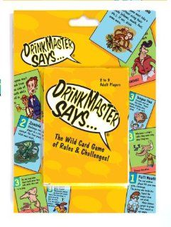 DrinkMaster SaysDrinking Card Game Toys & Games