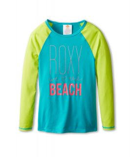 Roxy Kids Raglan Sleeve Rashguard Girls Swimwear (Blue)