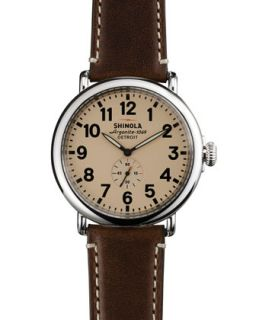 47mm Runwell Mens Watch, Cream/Dark Brown   Shinola   (47mm ,7mm )