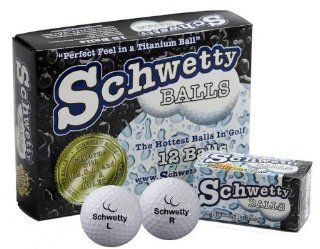 Schwetty Golf Balls   The Name Says It Al 10 White / 2 Blue Balls  Trick And Novelty Golf Balls  Sports & Outdoors