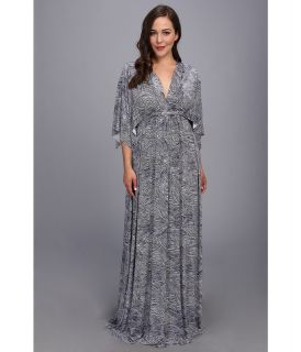 Rachel Pally Plus Size Printed Long Caftan Dress White Label Womens Dress (Brown)