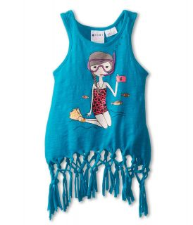 Roxy Kids Surf Brink Tank Girls Sleeveless (Blue)