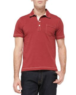 Mens Pensacola Jersey Polo, Brick   Billy Reid   Brrd (SMALL)