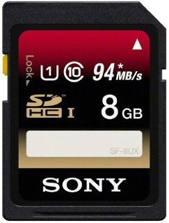 8GB UHS 1 Secure Digital (SDHC) Memory Card   94MB/sec transfer speeds Computers & Accessories