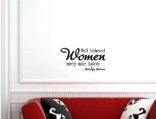 Well behaved women rarely make history MARILYN MONROE Vinyl wall art Inspirational quotes and saying home decor decal sticker   Home Decor Products
