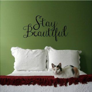 Stay Beautiful (M) Wall Saying Vinyl Lettering Home Decor Decal Stickers Quotes