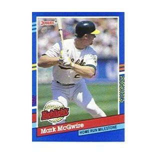 1991 Donruss Bonus Cards #BC9 Mark McGwire UER/Home Run Milestone/(Back says First at 's Sports Collectibles Store
