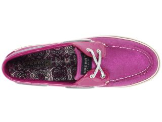 Sperry Top Sider Bahama 2 Eye Pink Sparkle Suede/Patent