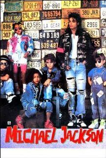 Michael Jackson kids & license plates POSTER 21 x 31 inches (poster sent from USA in PVC pipe)  Prints