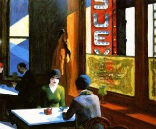 "Chop Suey by Edward Hopper Ladies having Coffee New York Life 12"" X 16"" Image Size Vintage Poster Repro on Matte Paper. Several More Sizes Available   Prints"