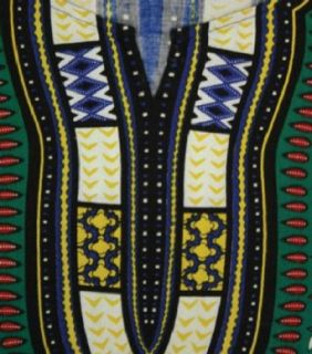 "King Sized Traditional Print Unisex Dashiki Top   Up to 70"" Chest   In Several Colors African Clothing Clothing"