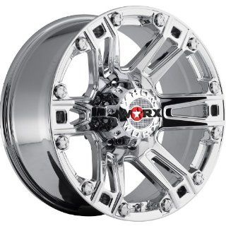 Worx Beast 18 Chrome Wheel / Rim 8x6.5 with a  12mm Offset and a 125.2 Hub Bore. Partnumber 803 8981V12 Automotive