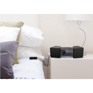iLuv VibroBlue Bluetooth Wireless Speaker and Alarm Clock with Shaker (Black)   Players & Accessories