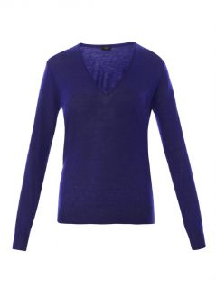 V neck cashmere knit sweater  Joseph