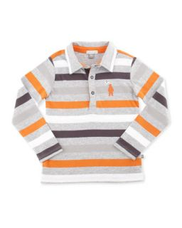 Striped Long Sleeve Polo Shirt, 12 24 Months