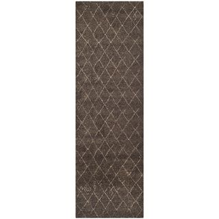 Safavieh Tunisia Dark Brown Rug (26 X 10)
