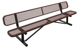 Leisure Craft Standard Expanded Steel Commercial Park Bench