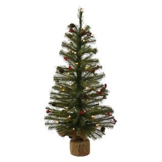 Vickerman 3 ft. Mixed Pine Full Pre lit Christmas Tree