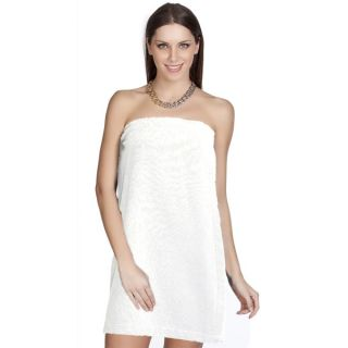 Authentic Hotel and Spa Turkish Cotton Terry White Womens Spa and