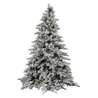 Vickerman 9 ft. Flocked Utica Fir Christmas Tree   Christmas Trees
