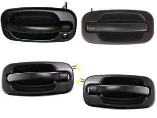 Escalade Avalanche Silverado Suburban 99   07 Fr Rear Paintable Door Handle Set