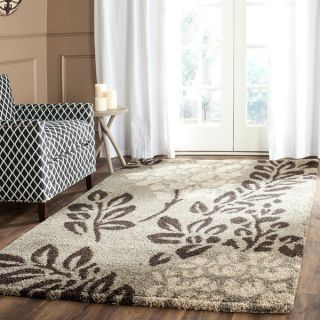 Safavieh Ultimate Smoke/ Dark Brown Shag Rug (8 x 10)