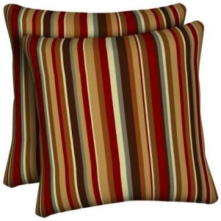 Hampton Bay Rustic Stripe Outdoor Throw Pillow (2 Pack) DISCONTINUED AC18554B 9D2