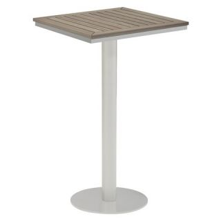 Oxford Garden Travira Square Bar Table 24   Powder Coated Aluminum