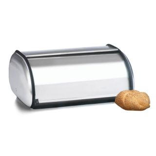 Prime Pacific 17 inch Brushed Stainless Steel Roll Top Bread Box