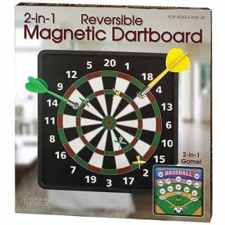 2 in 1 Reversible Magnetic Dartboard