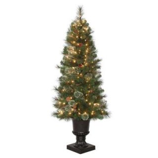 4.5 ft. Alexander Pine Potted Artificial Christmas Tree with Pinecones and 150 Clear Lights TV46M5311C00