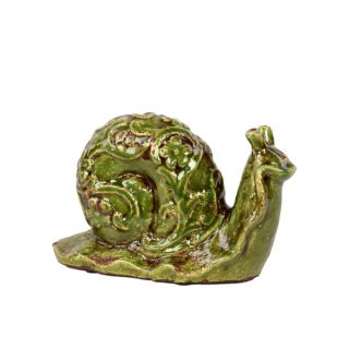 Urban Trends Collection Small Green Ceramic Snail