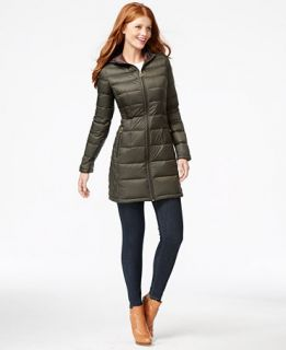 MICHAEL Michael Kors Hooded Packable Down Puffer Coat   Coats   Women