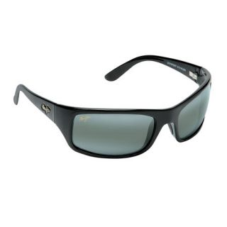 Maui Jim Peahi Sunglasses   Gloss Black Frame/Neutral Grey Lens 410105