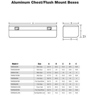 Tradesman  TAWB36BK 36 Inch Aluminum Flush Mount Single Lid Truck Tool