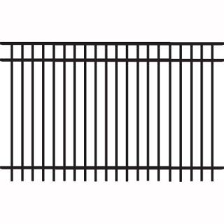 Veranda Natural Reflections Standard Duty 5 ft. H x 8 ft. W Black Aluminum Pre Assembled Fence Panel 73008982
