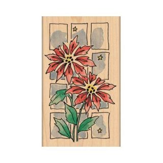 "Penny Black Mounted Rubber Stamp 3.5""X4.5"" Christmas Window"