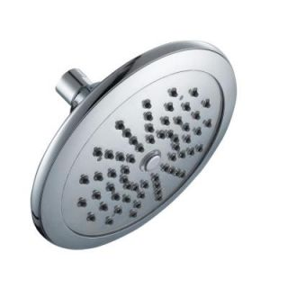 Glacier Bay Water Powered LED Lighted 1 Spray 7 in. Fixed Shower Head in Chrome 51901 0001