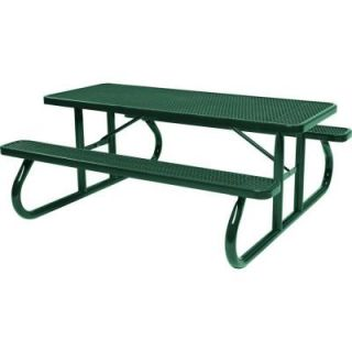 Tradewinds Park 6 ft. Green Commercial Picnic Table HD D601GS GR