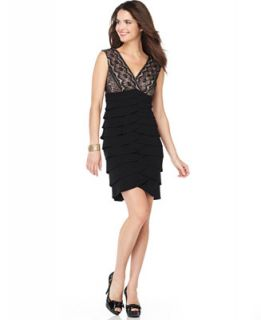 Jessica Howard Petite Dress, Sleeveless Lace Tiered Cocktail Dress