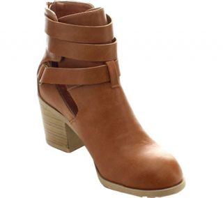 Womens Wild Diva Jess 23 Ankle Boot   Whiskey Faux Leather