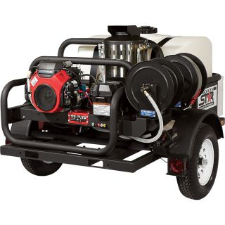 NorthStar Hot Water Pressure Washer — 4000 PSI, 4.0 GPM, Honda Engine, Trailer Mounted  Gas Hot Water Pressure Washers