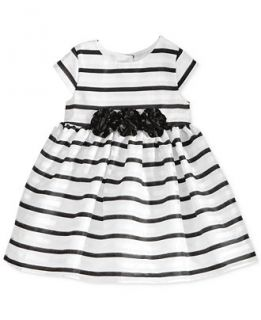 Marmellata Baby Girls Black & White Strip Dress   Kids & Baby