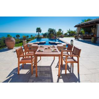 Malibu Eco Friendly 5 piece Outdoor Dining Set with Stacking Dining